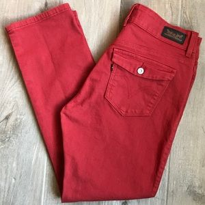 Levi's | Mid Rise Skinny Jeans Red Size 10M 30x27